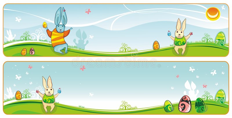 Easter Banner Stock Photo