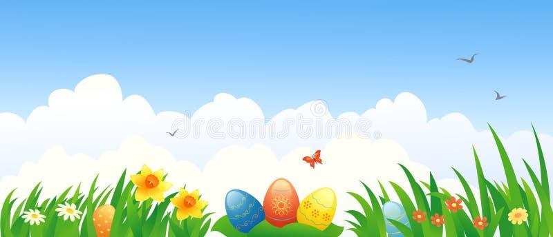 Easter banner vector illustration