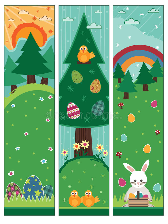 Easter Banners Royalty Free Stock Photos