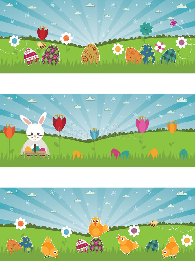 Download Easter banners stock vector. Image of rabbit, holiday - 13515293