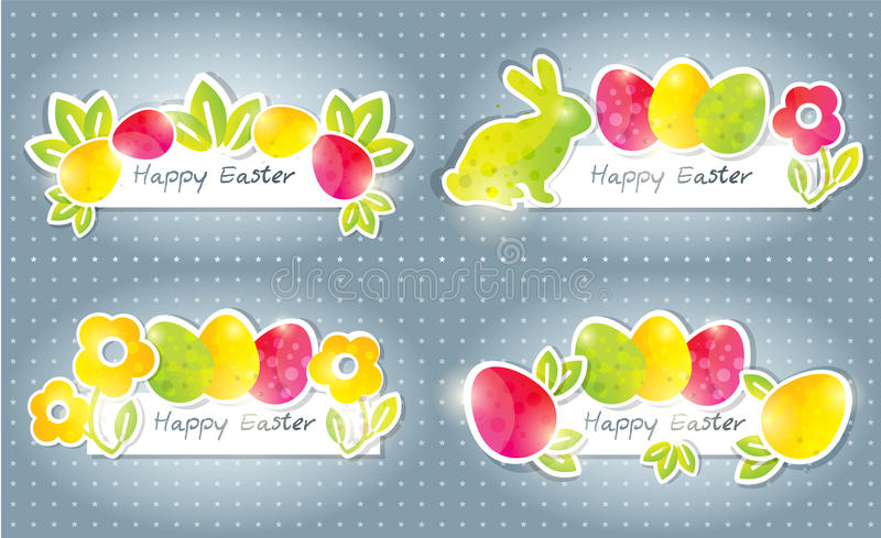 Easter banners royalty free illustration