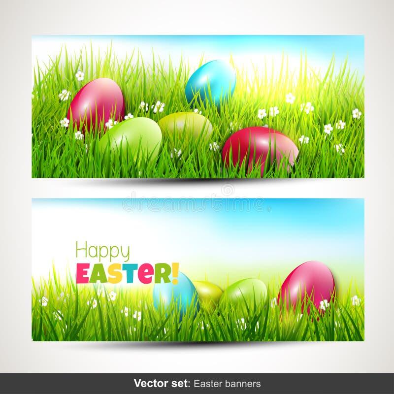 Easter banners stock illustration