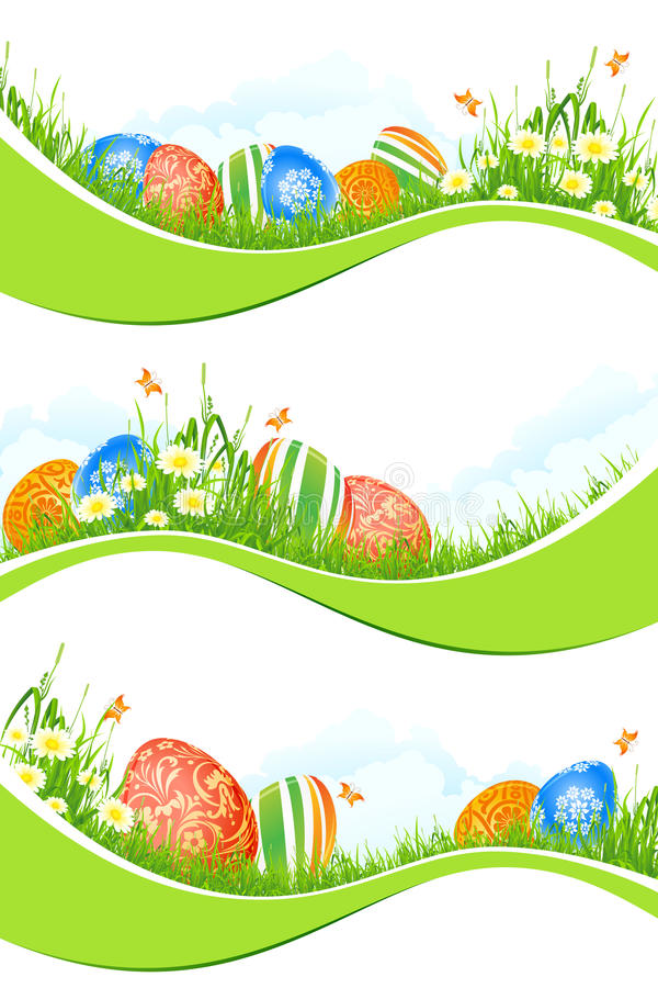Download Easter Banners Set Isolated On White Stock Vector - Image: 28992298