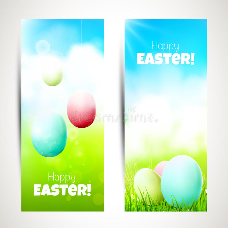 Easter banners vector illustration