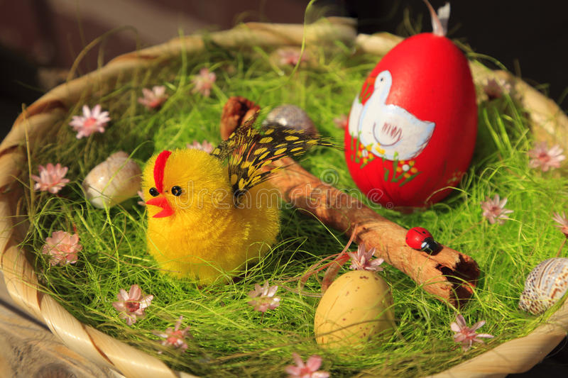 Download Easter basket stock image. Image of traditional, painted - 12764895