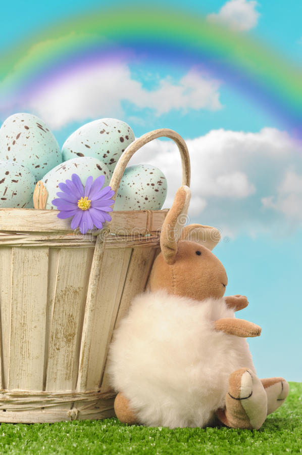 Download Easter Basket stock photo. Image of decorated, rainbow - 23897848