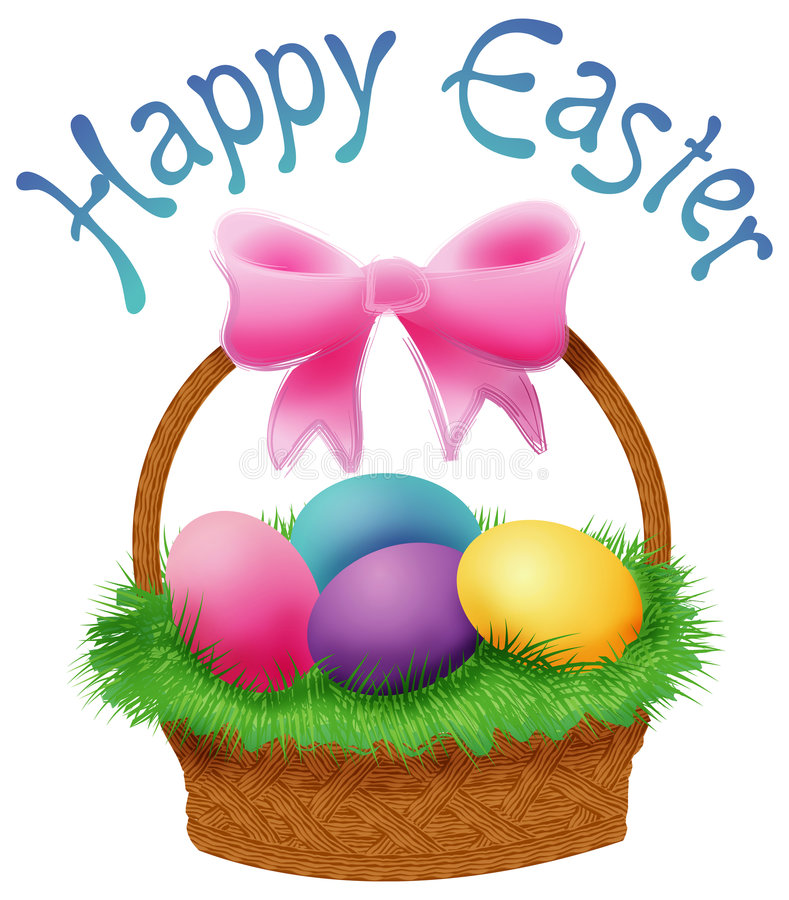 Easter Basket royalty free illustration