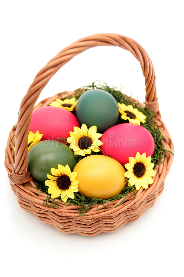 Download Easter Basket stock image. Image of easter, colored, flowers - 520373