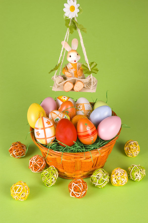 Download Easter basket and a cradle stock image. Image of cradle - 8484385