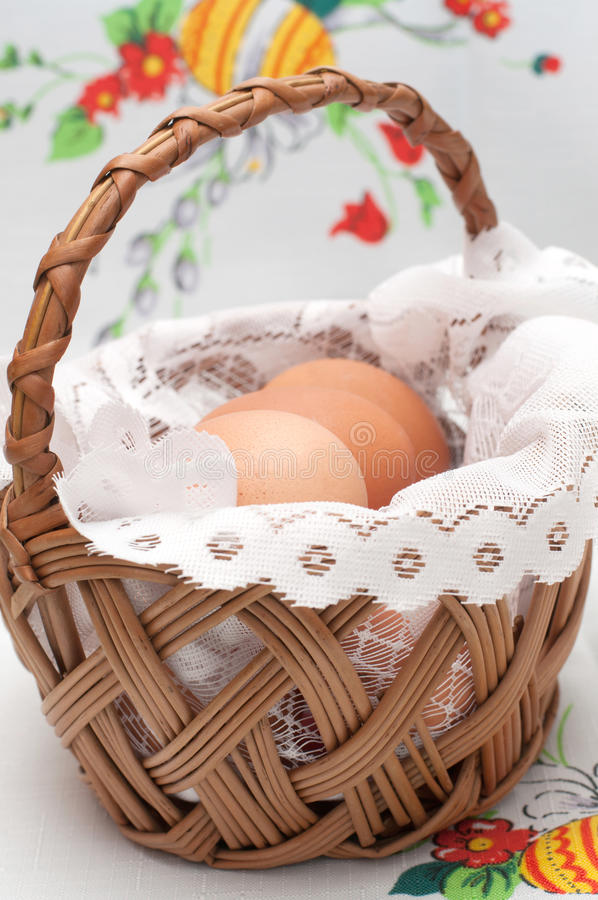 Download Easter Basket With Eggs Stock Photo - Image: 29761750