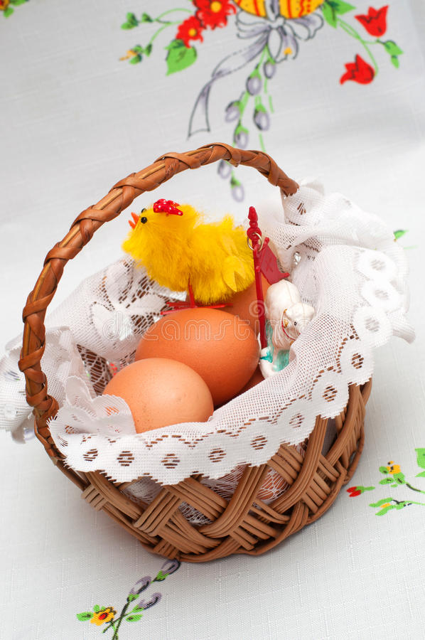 Download Easter basket with eggs stock image. Image of traditional - 29761753