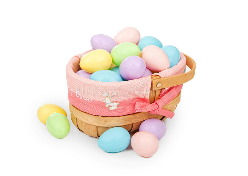 Download Easter Basket With Pastel Colored Plastic Eggs Stock Image - Image: 15110681