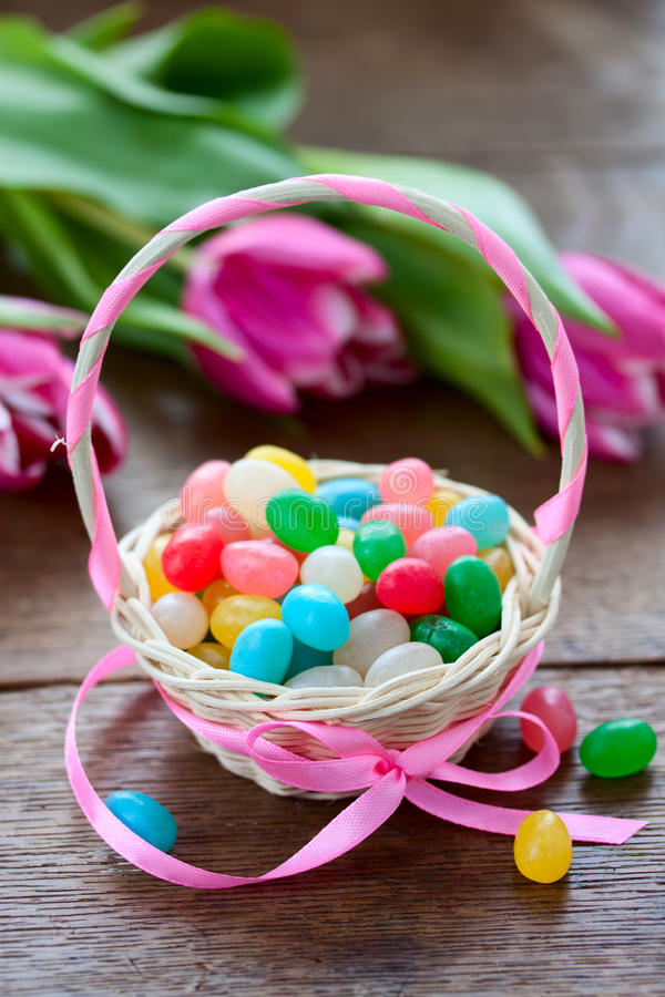 Download Easter basket with sweets stock image. Image of easter - 39501871