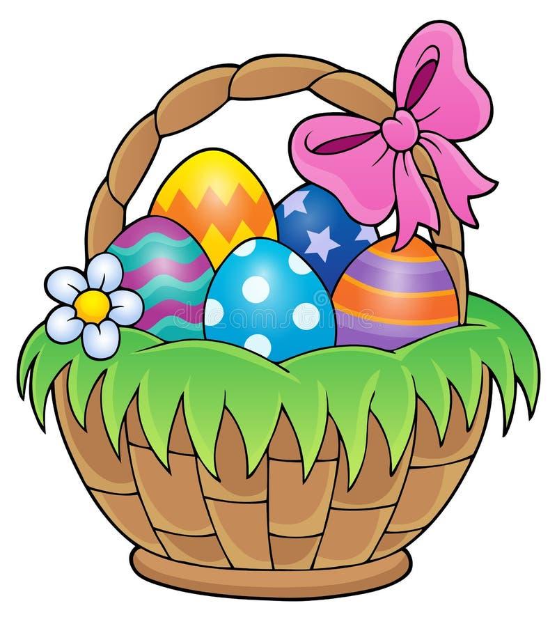 Easter basket theme image 1. Eps10 vector illustration vector illustration