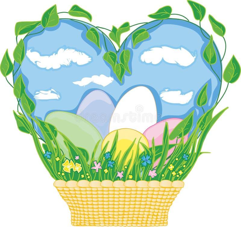 Easter basket stock images