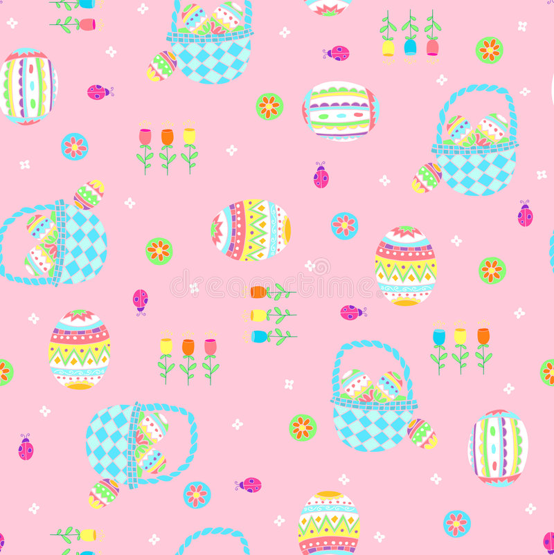 Download Easter Baskets Seamless Repeat Pattern Royalty Free Stock Photo - Image: 9157125