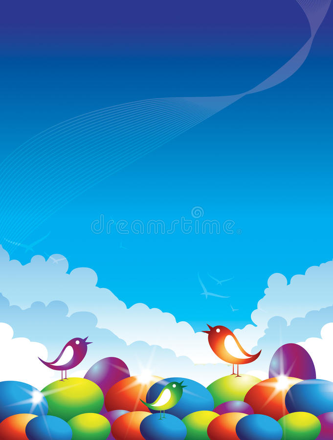 Easter Birds Royalty Free Stock Images