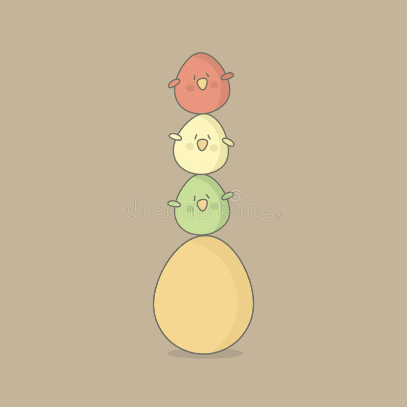 Easter birds eggs royalty free stock photography
