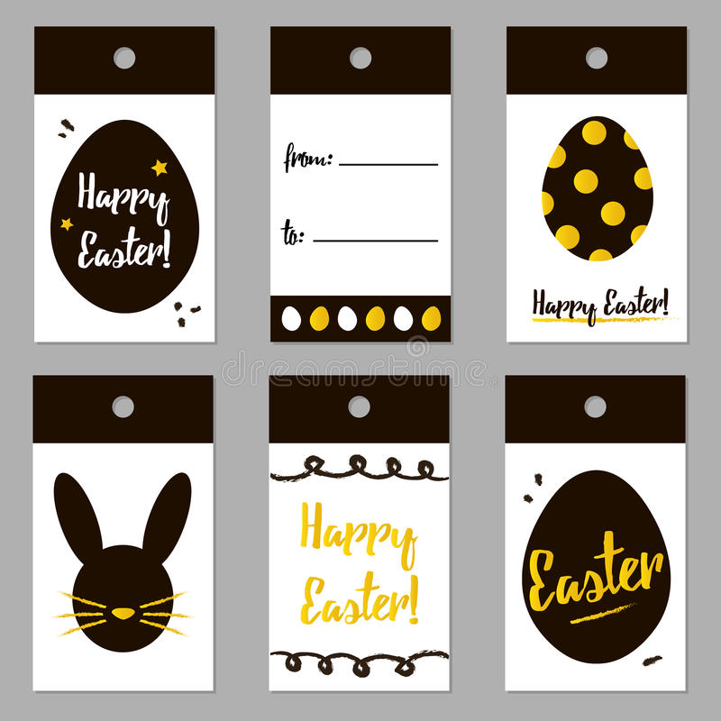 Easter black and gold trendy tags set collection vector easter download easter black and gold trendy tags set collection vector easter gift card design negle Gallery