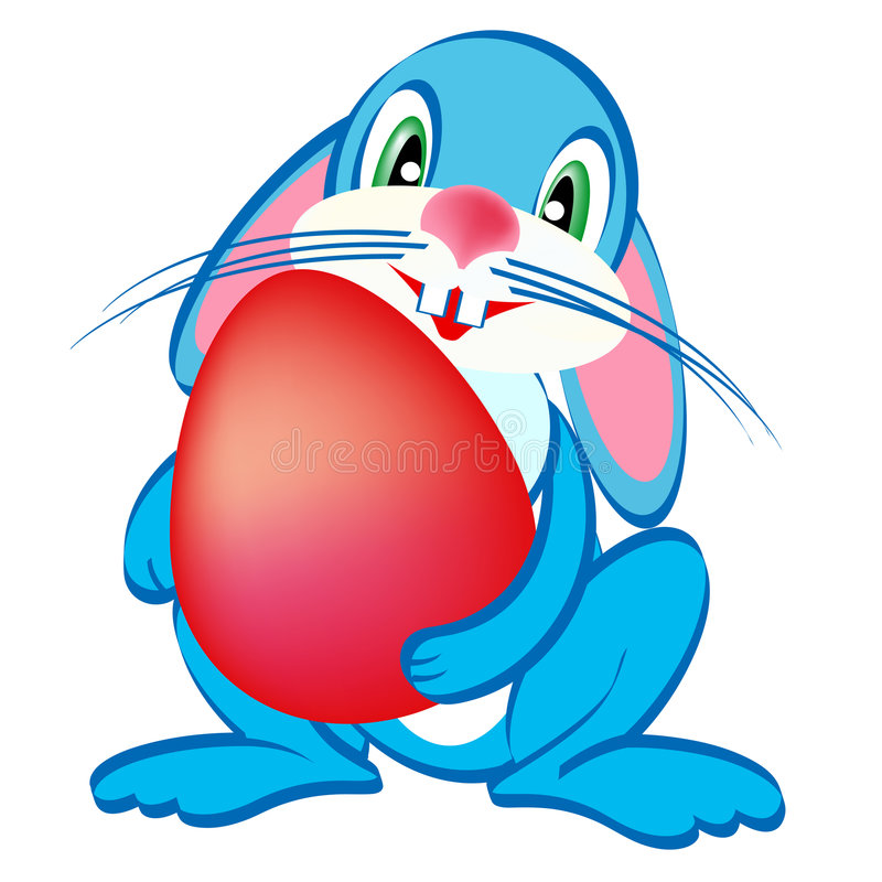 Easter Blue Bunny Stock Images
