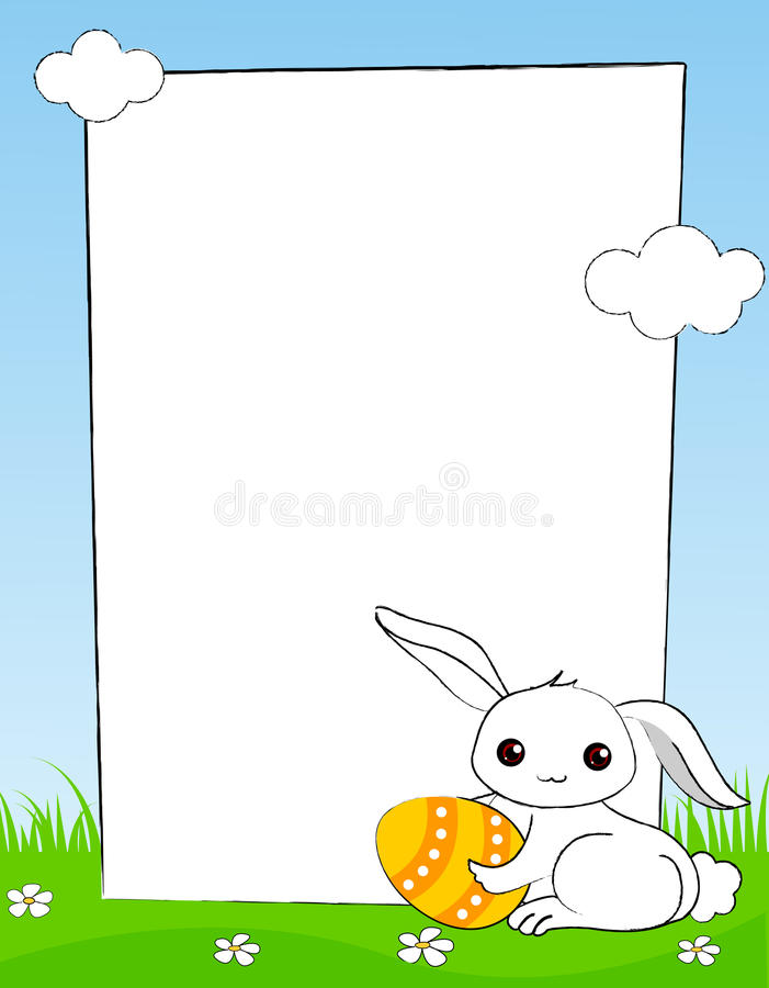 Easter border vector illustration