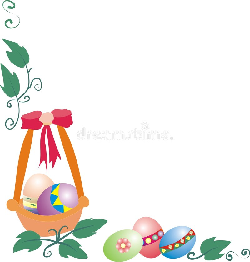 Easter border royalty free stock photography