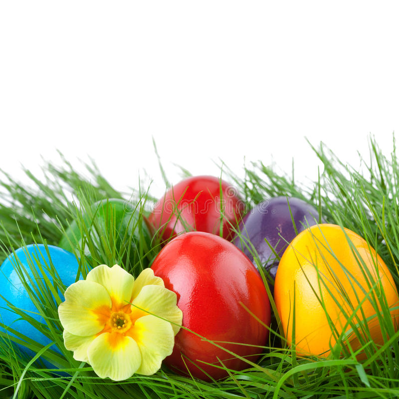 Easter Border with Copy Space stock photo