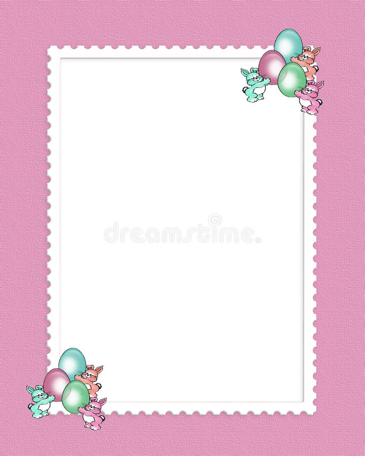 Easter Border Cute Bunnies Royalty Free Stock Images