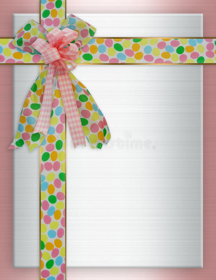 Download Easter Border Ribbons And Bows Stock Illustration - Image: 13064259