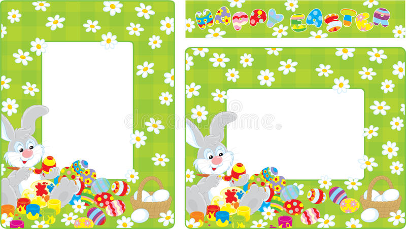 Easter Borders Stock Vector. Illustration Of Cony