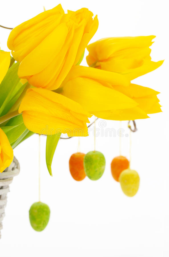 Easter bouquet stock photography