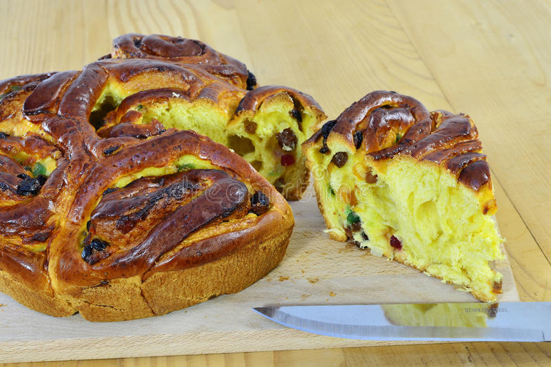 Sweet bread sliced royalty free stock images