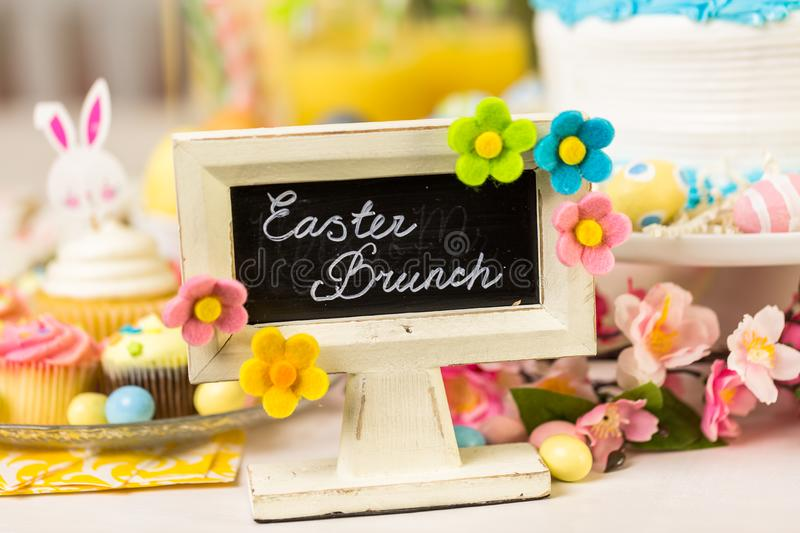 Easter brunch stock photography