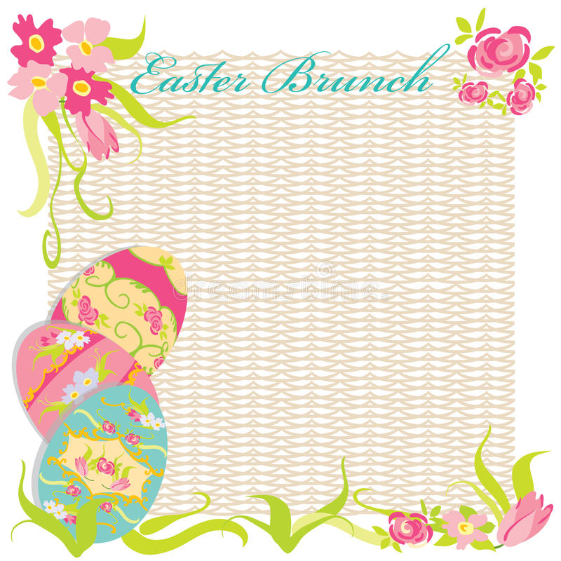 Easter Brunch Invitation Party Stock Photo
