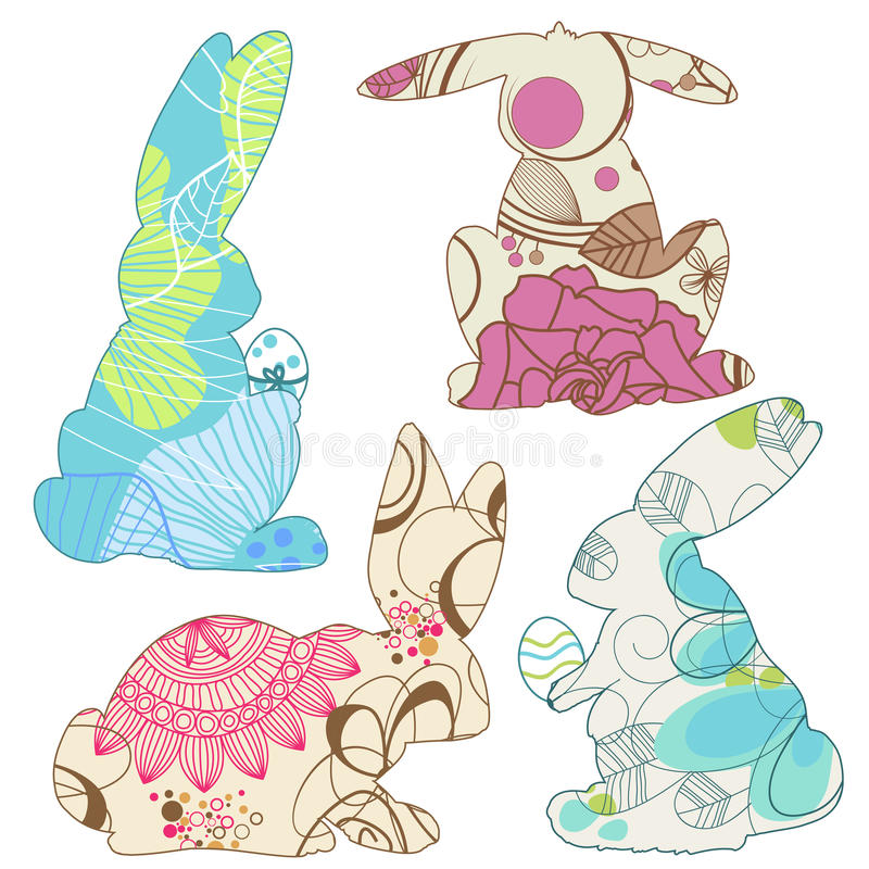 Download Easter bunnies stock vector. Image of illustration, card - 23948022