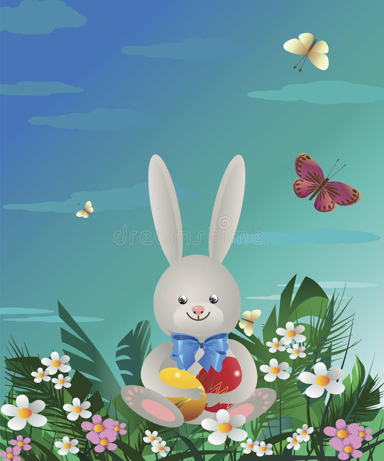Free Easter Bunny 1 Royalty Free Stock Image - 68040366