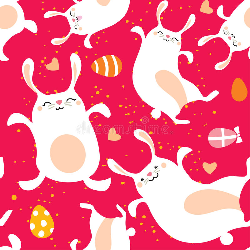 Easter bunny. Seamless pattern holiday background