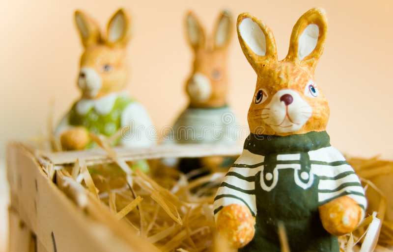 Download Easter bunny stock photo. Image of colorful, brown, hare - 2043418