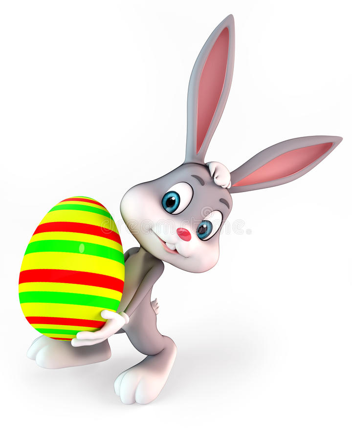 Download Easter bunny stock illustration. Image of eggs, pink - 24032135