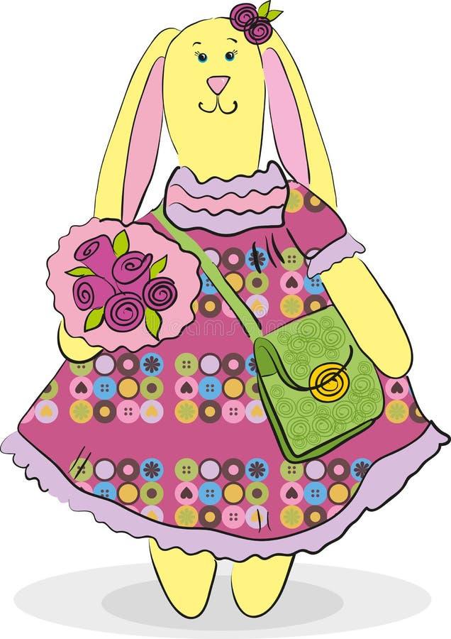 Download Easter bunny stock vector. Image of flowers, rabbit, elegant - 24297262