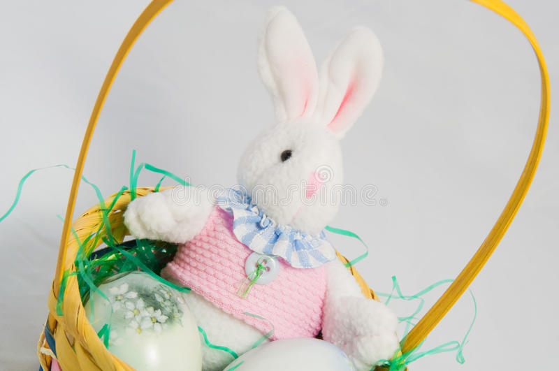 Download Easter Bunny in Basket stock photo. Image of basket, artificial - 12568324