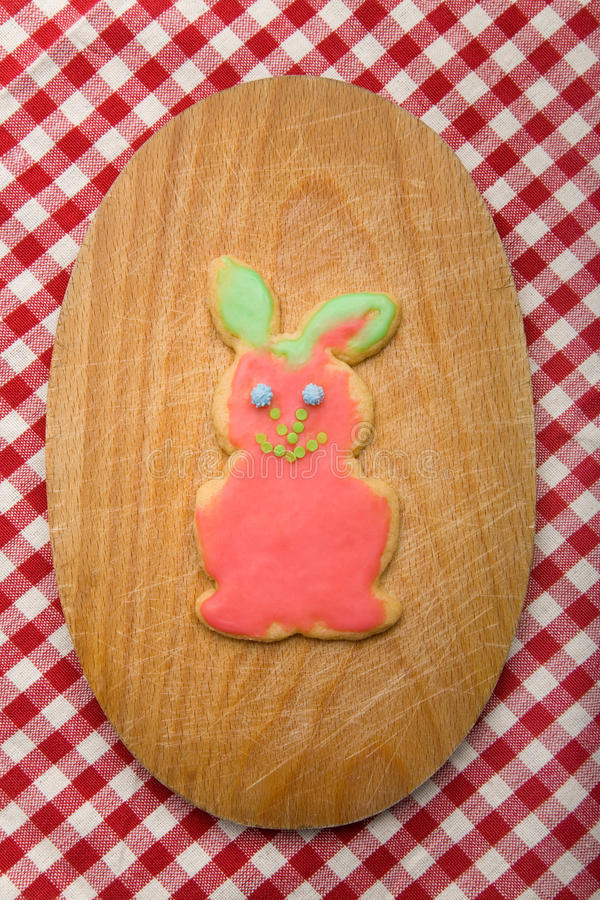 Download Easter bunny on board stock image. Image of baking, gingerbread - 11191843