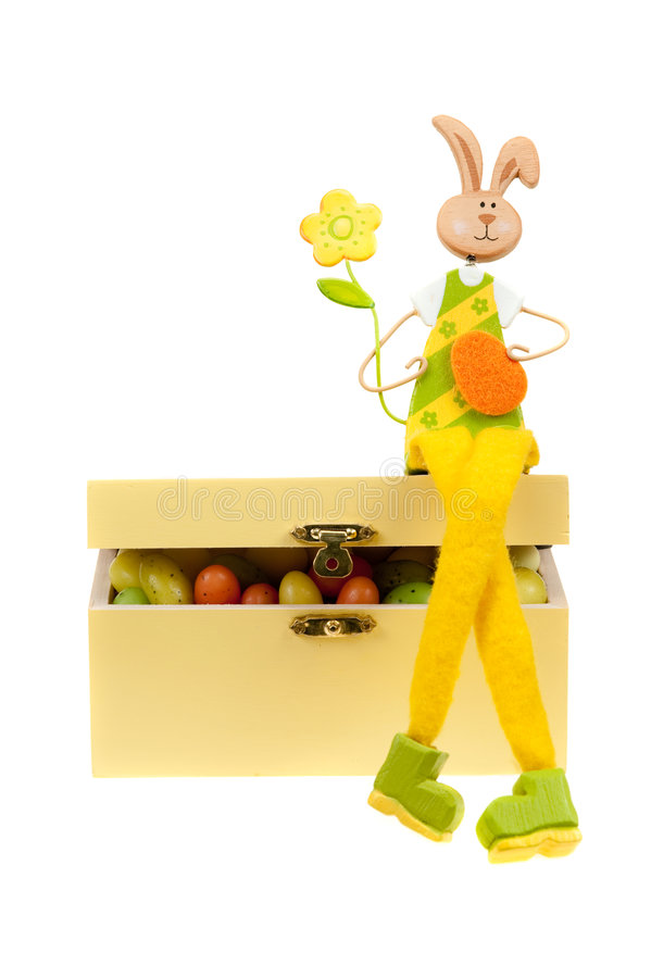 Easter Bunny On A Box Royalty Free Stock Photography