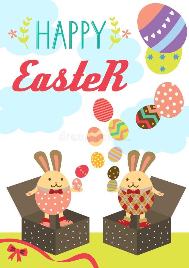 Easter bunny box stock photo