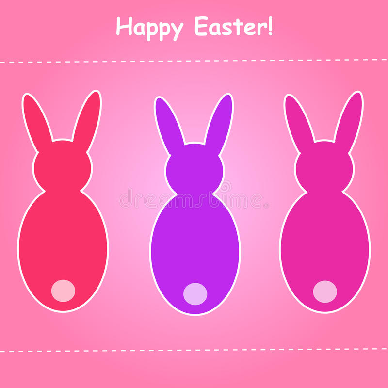 Download Easter Bunny card stock vector. Illustration of wallpaper - 23954151