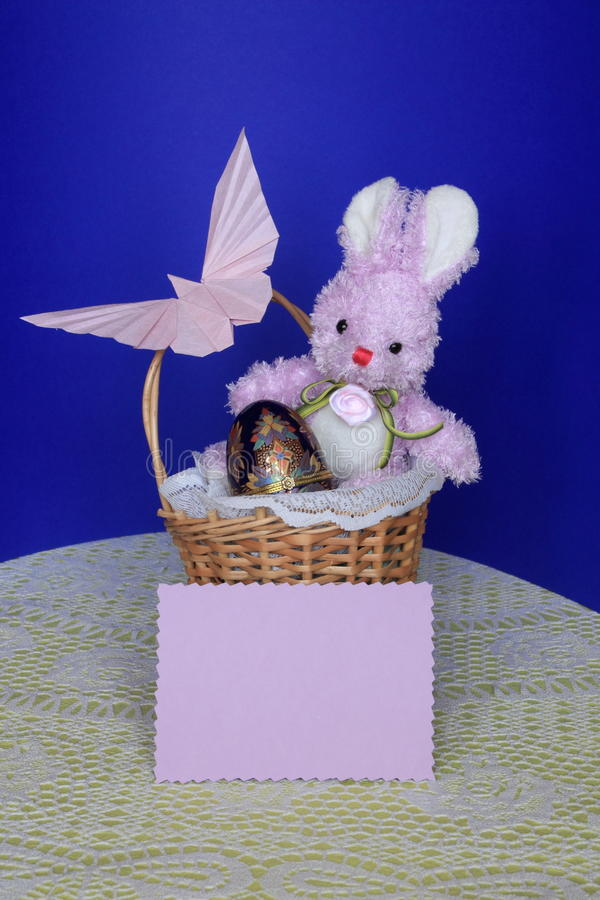 Download Easter Bunny -  Card , Eggs In Basket - Stock Photo Stock Photo - Image: 29052352