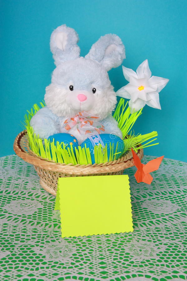 Download Easter Bunny -  Card , Eggs In Basket - Stock Photo Royalty Free Stock Images - Image: 29052779