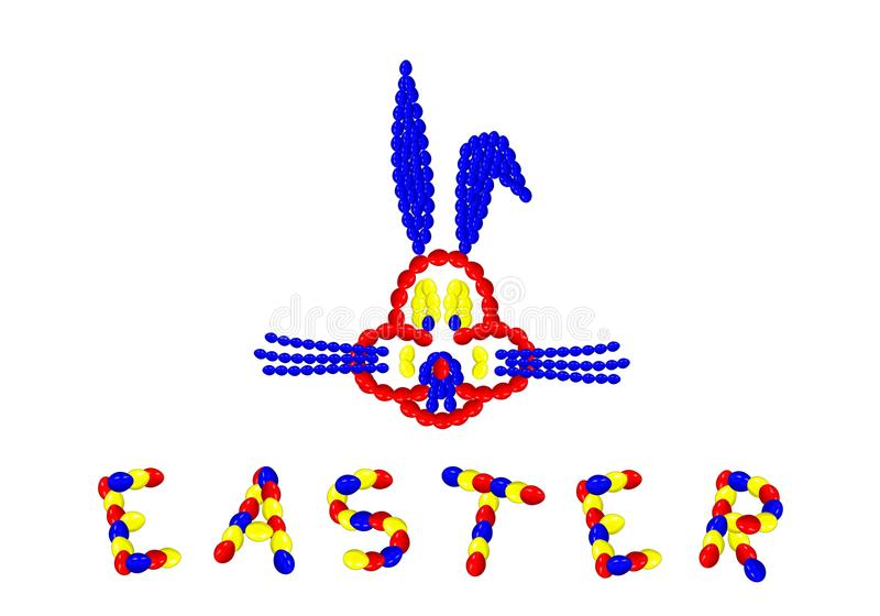 Easter bunny - cdr format royalty free stock photos