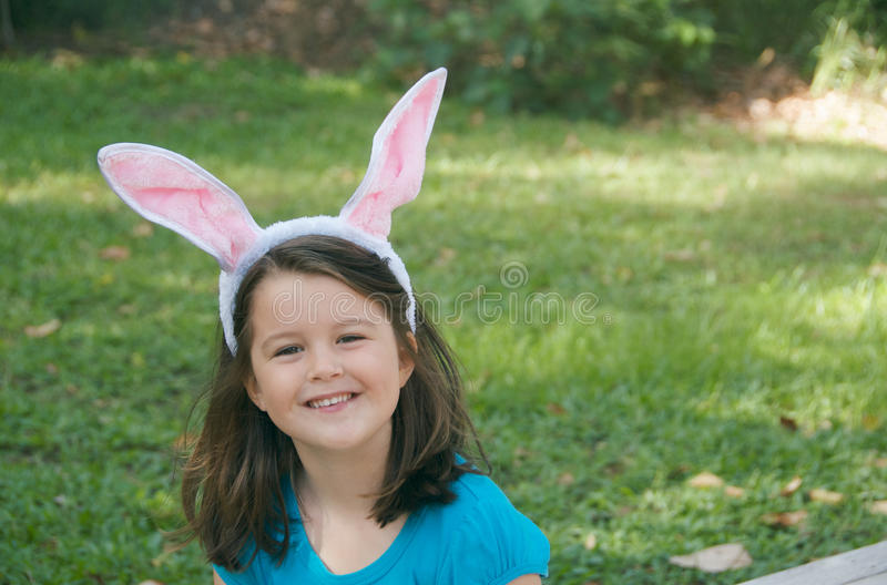 Download Easter Bunny child stock image. Image of caucasian, ears - 13745981