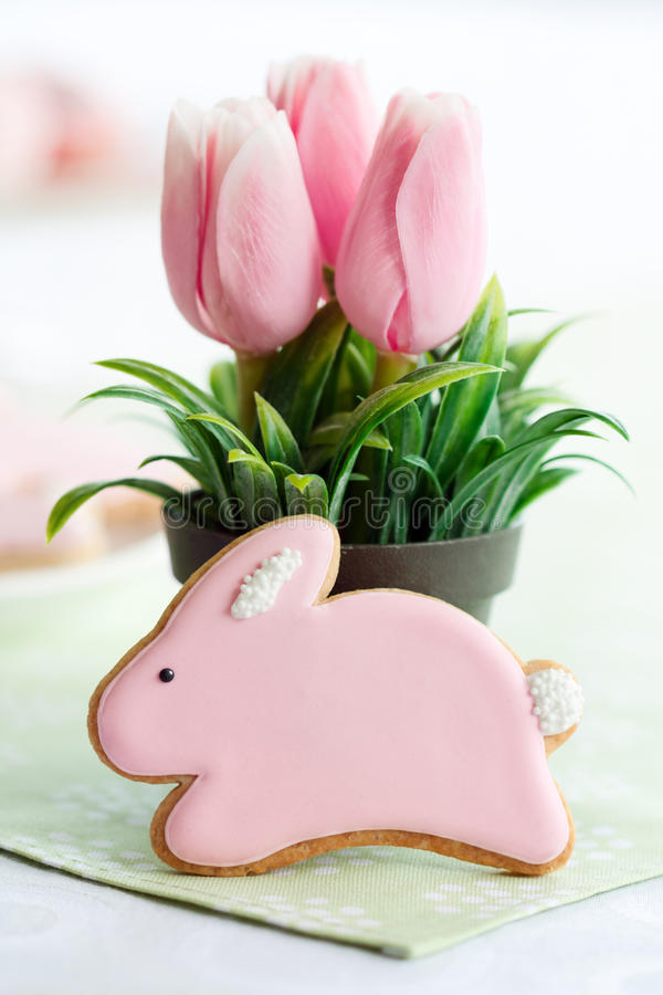 Easter bunny cookie royalty free stock image